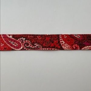 J. Crew Accessories - JCrew 100% Silk Quilted Belt M/L Paisley Print